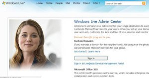 windows live admin