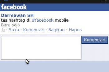 Facebook Hashtag Mobile