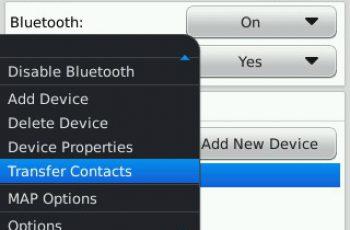pindah kontak bb6