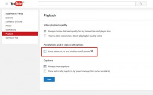 Mematikan Annotations Youtube 2