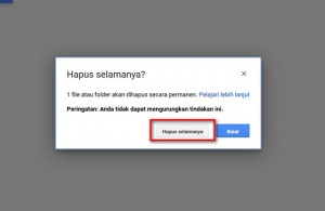 hapus permanen file google drive 1