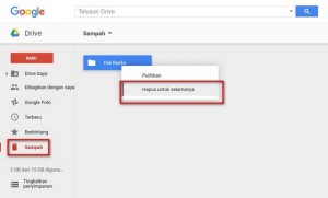 hapus permanen file google drive