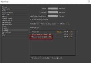 multi monitor di adobe premiere cc 2