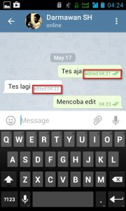 Edit Pesan di Telegram