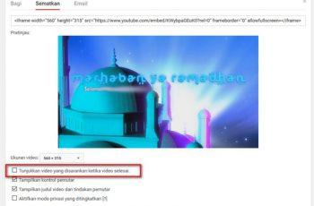 Embed Video Youtube Tanpa Menampilkan Video Lain Saat Selesai 2