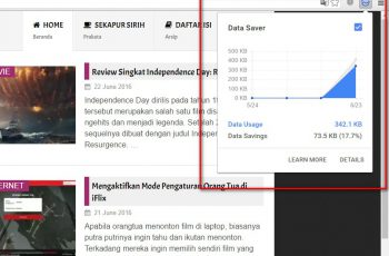 Hemat Data dengan Data Saver di Chrome