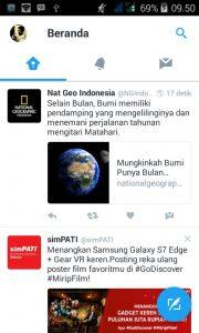 hemat data di Twitter Android