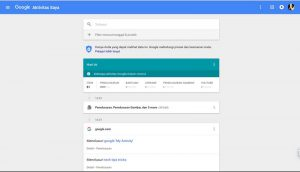 Cara Melihat Aktifitas Internet Anda Yang Direkam Google