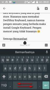Geser Kursor dengan Cepat di Google Keyboard
