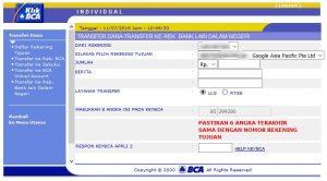 Membayar AdWord dengan Transfer Bank 6