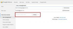Menambah Pengelola di Akun Google Adsense