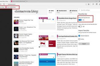 Menampilkan Favorites Bar di Browser Edge