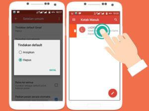 Menghapus Email dengan Cepat di Gmail Android