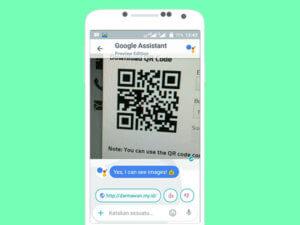 Scan QR Code dengan Google Allo