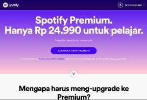 Diskon Setengah Harga Spotify Premium Untuk Pelajar