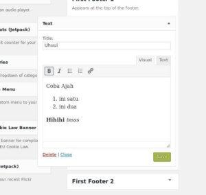 Kini Lebih Mudah Memformat Teks Widget WordPress