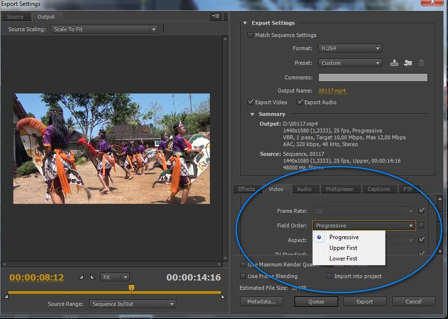 Cara export video adobe premiere,hasil render adobe premiere
