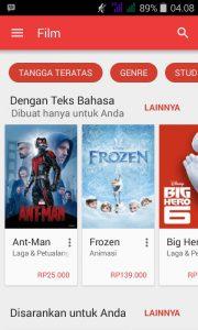 sewa google play movie 1