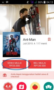 sewa google play movie 2