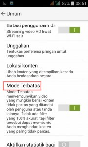 mode terbatas youtube 2