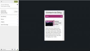 Tes Tampilan Responsive Themes Blog WordPress