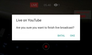 live youtube lewat ponsel Android 4