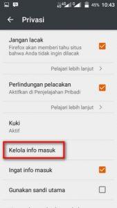 melihat password tersimpan di firefox android 3
