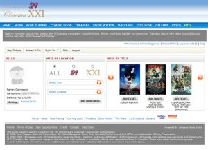 Mendaftar MTix XXI Secara Online