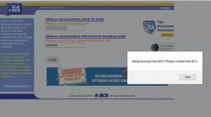 Mengatasi Internet Banking Bca Yang Terblokir