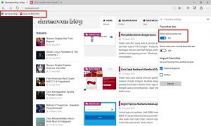 Menampilkan Favorites Bar di Browser Edge