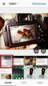 simpan konsep foto dengan save draft di Instagram