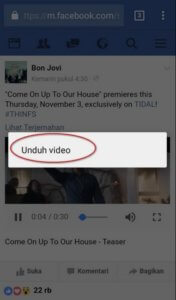 Cara Cepat Download Video Facebook di Android