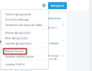 Mematikan Retweet di Twitter Web