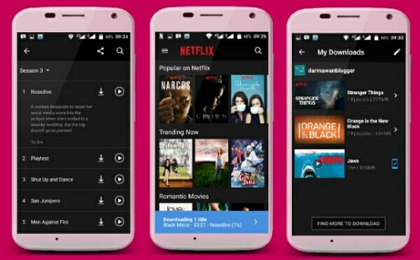 Film di Netflix Kini Bisa Didownload dan Ditonton Offline