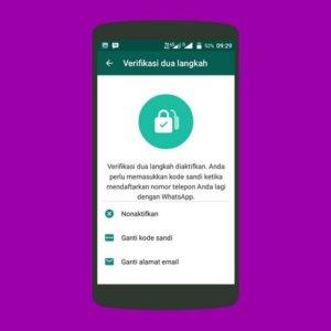 Amankan Whatsapp dengan Verifikasi Dua Langkah