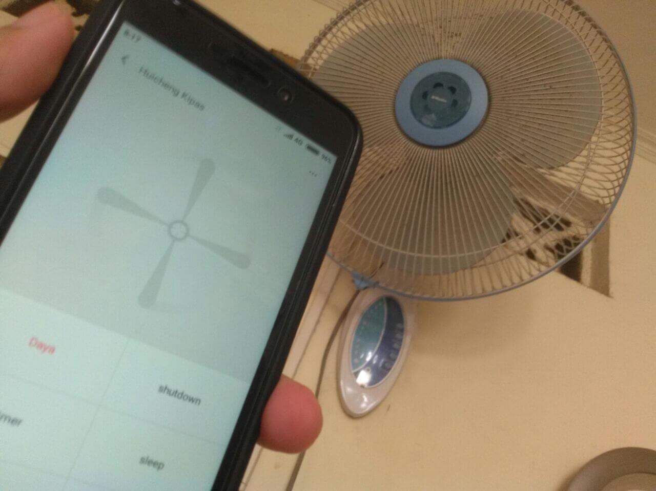 Remote Kipas Angin Miyako Dengan Mi Remote