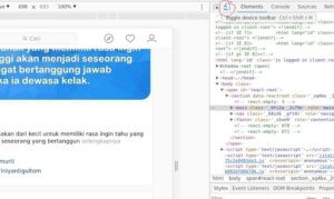 Upload Foto Instagram Lewat Browser Chrome Desktop