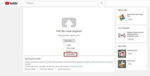 Menjadwalkan Video Tampil di Youtube
