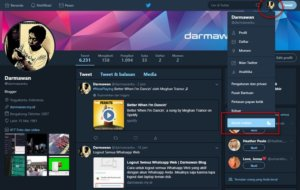 Mengaktifkan Mode Malam di Twitter Web