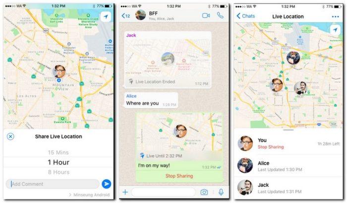 Berbagi Lokasi Terkini di Whatsapp
