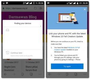 Mencoba Browser Microsoft Edge di Android