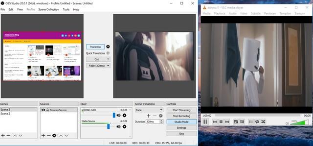 Membuat Virtual Webcam di OBS