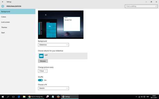 Mengganti Wallpaper Windows 10 Secara Otomatis Tanpa Aplikasi