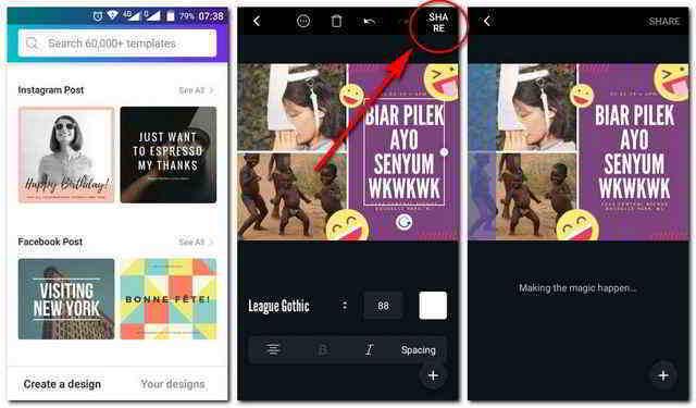 Cara Simpan Hasil Editan Canva Android