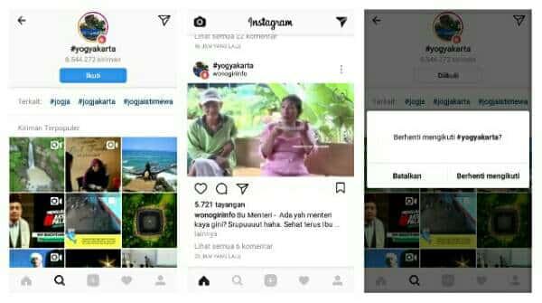 Cara Mengikuti Hashtag di Instagram