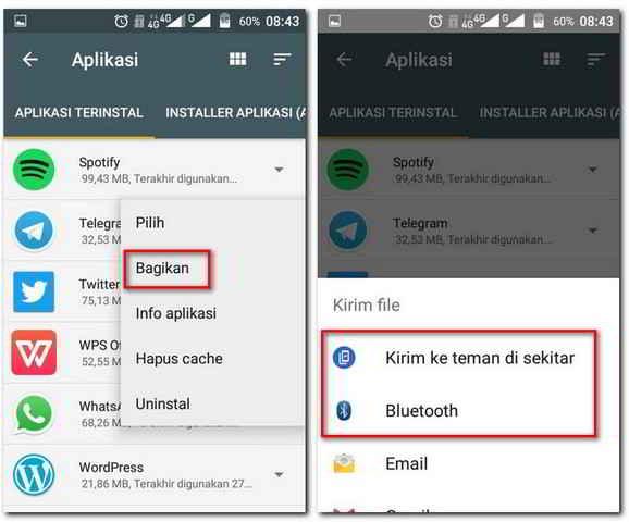 Mengirim Aplikasi Terinstall Ke Ponsel Lain Dengan Files Go