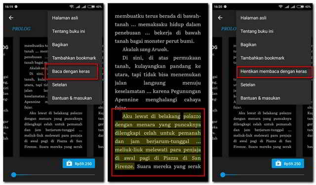 Cara Menyuarakan Buku di Google Play Book