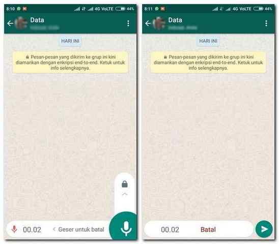 Supaya Tidak Pegal Saat Kirim Pesan Suara Whatsapp