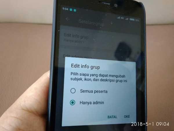 Agar Anggota Grup Whatsapp Tidak Bisa Mengganti Nama Grup