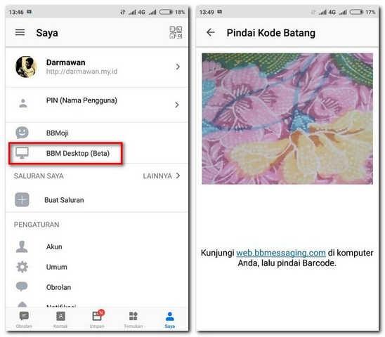 Cara Menggunakan BBM Android di Laptop